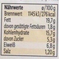 Hummus Getrocknete Tomate - Nährwertangaben - de