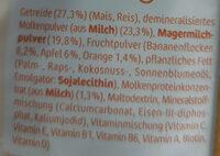 Milde Früchte Milchbrei - Zutaten - de