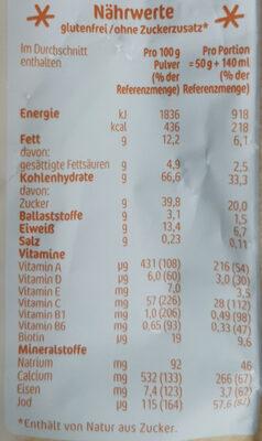 Milde Früchte Milchbrei - Nährwertangaben - de