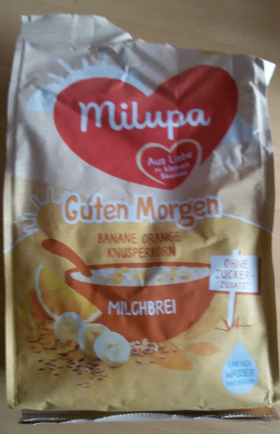 Guten Morgen Milchbrei, Banane, Orange, Knusperkorn - Produkt - de