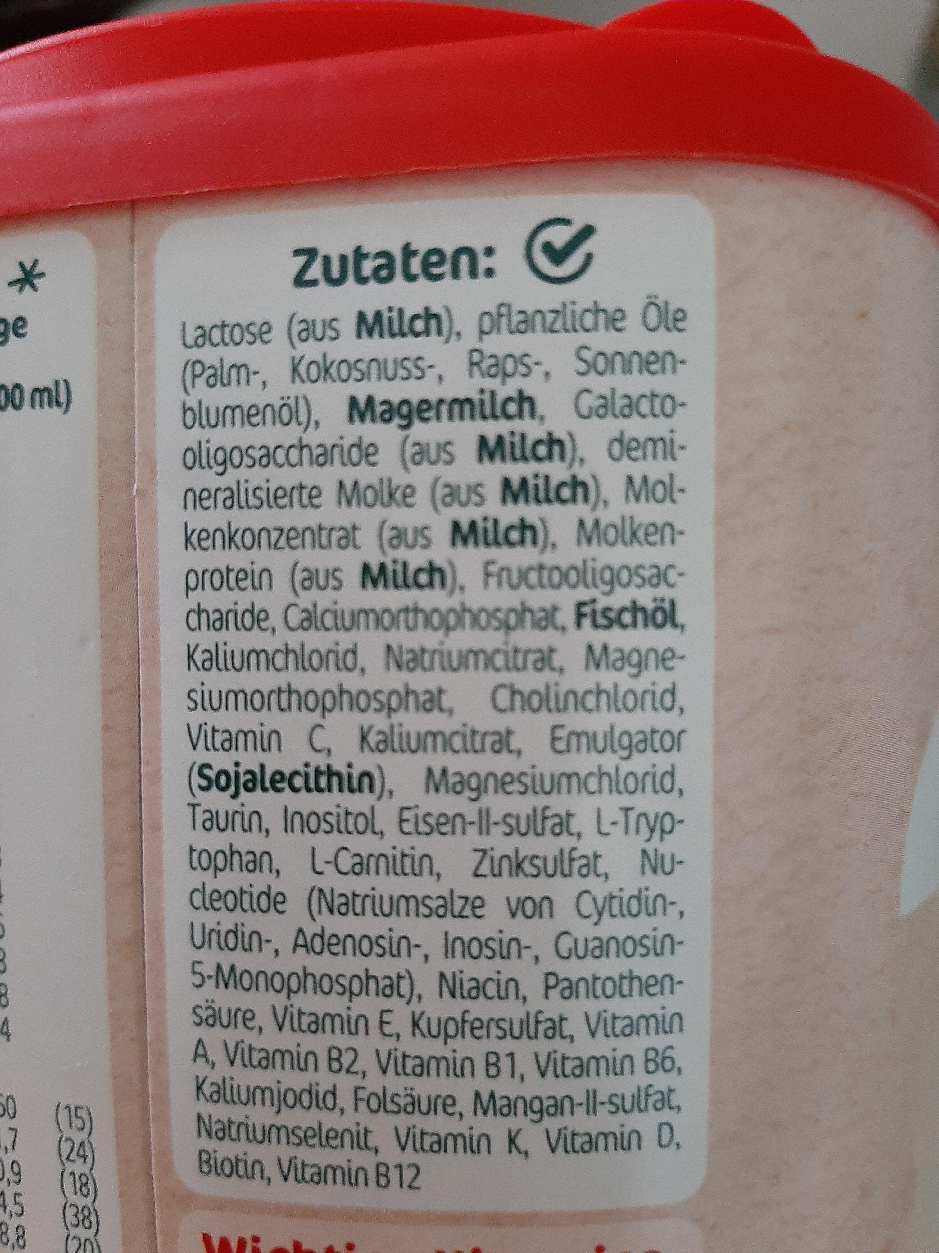 Milumil 2 - Ingredients - en