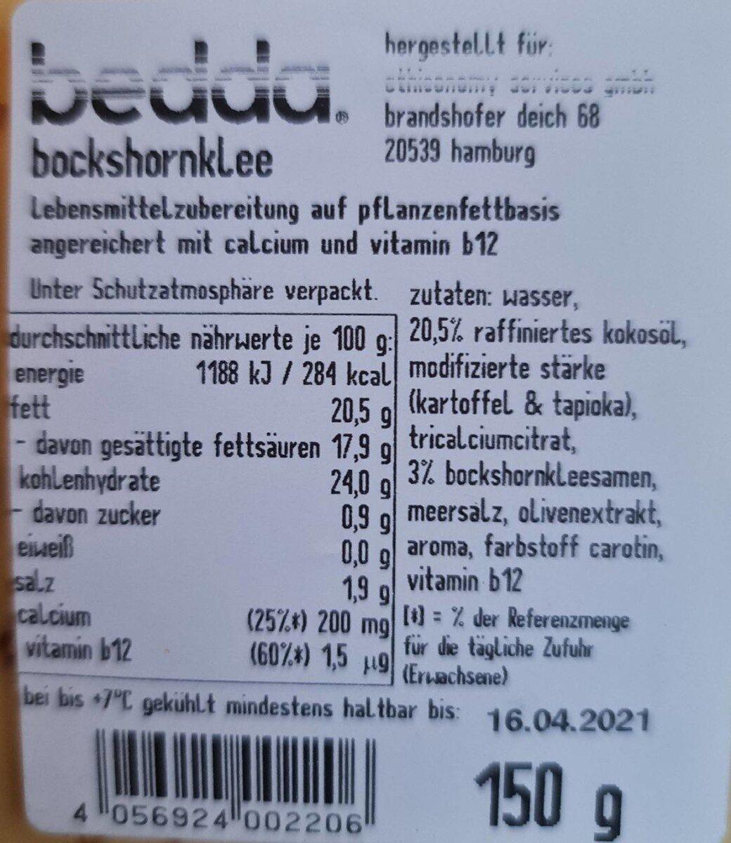 Bedda scheiben bockshornklee - Valori nutrizionali - de