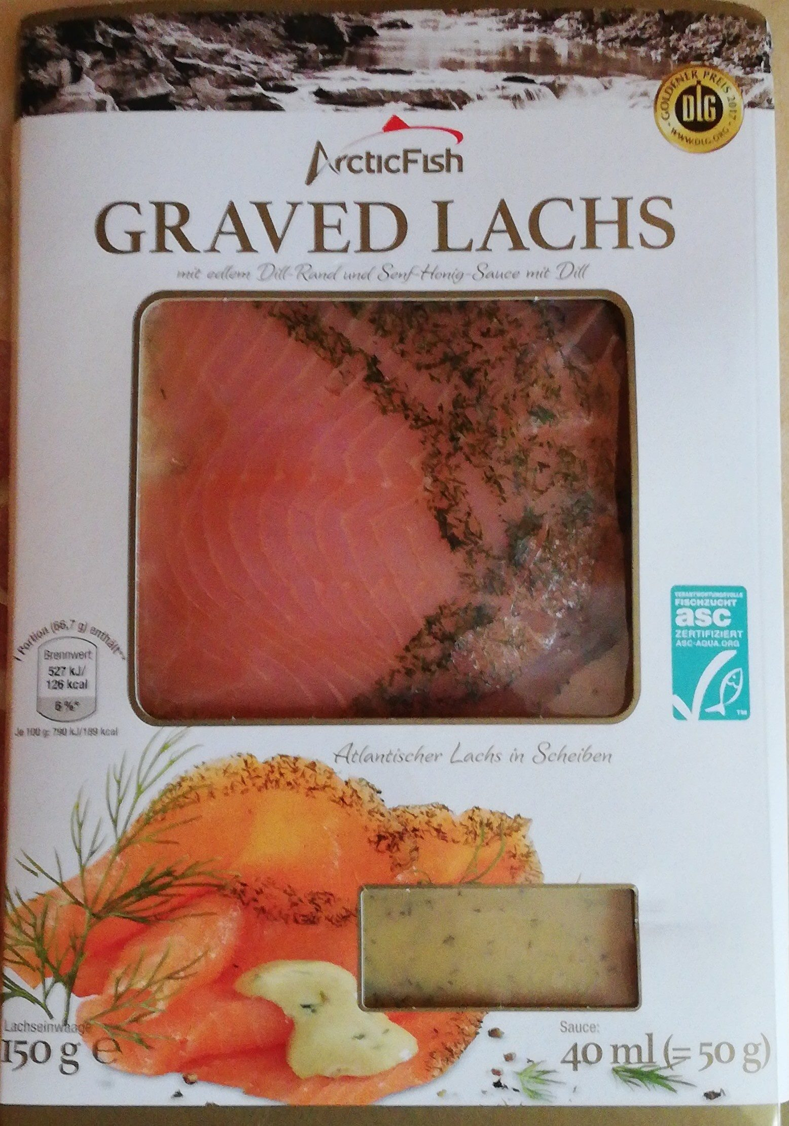 Graved Lachs mit Dill Senf Honig Sauce - Product - de