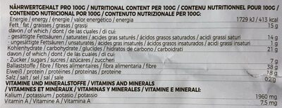 Bio kokosmehl - Informations nutritionnelles - de