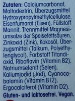 Vegetarier und Veganer: Vitamine + Mineralstoffe - Ingrédients - de