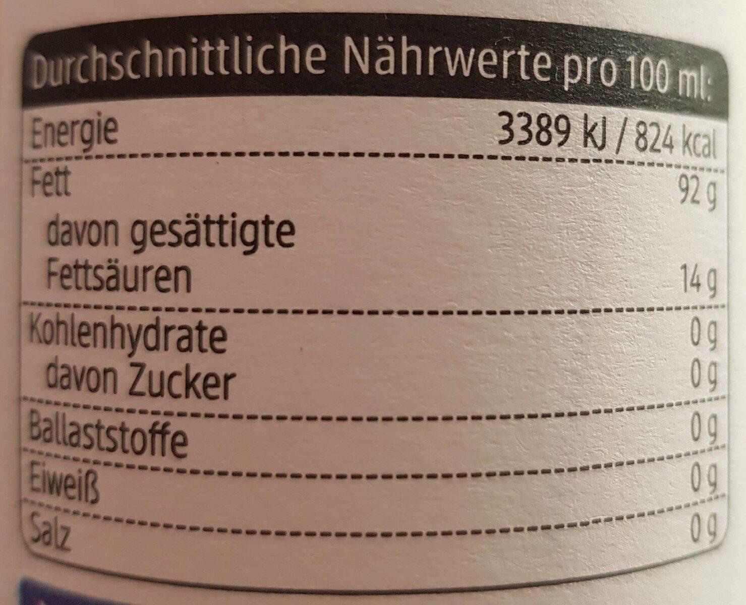 Natives olivenöl extra naturtrüb - Informations nutritionnelles - fr