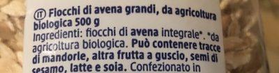 Flovon d'avoine - Ingredients