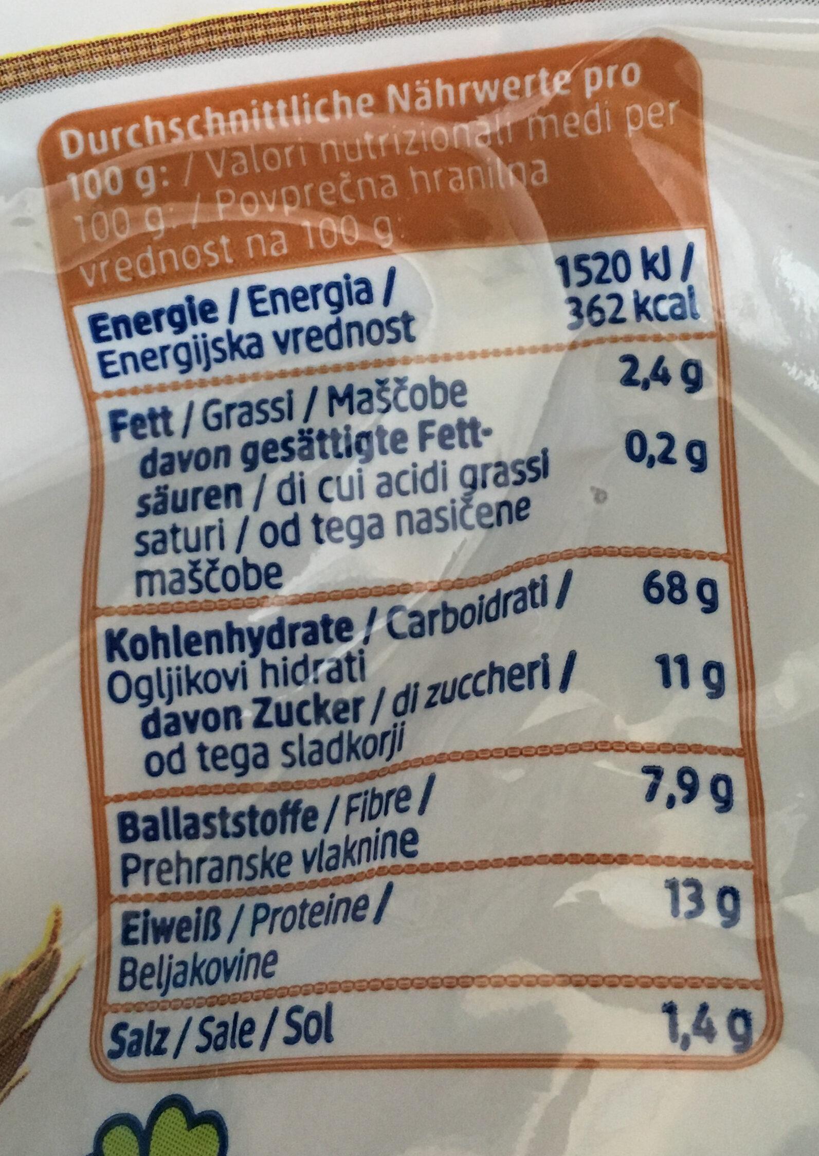 Dinkel Flakes - Informations nutritionnelles - de