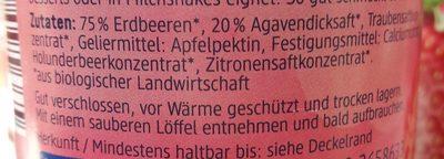 Bio Fruchtaufstrich Erdbeere - Ingredients - de