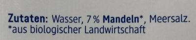 Mandel Drink natur - Ingredients - de