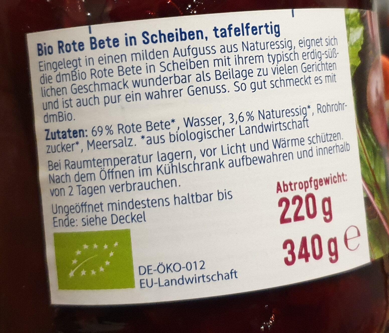 Rote Bete - Ingredients - de