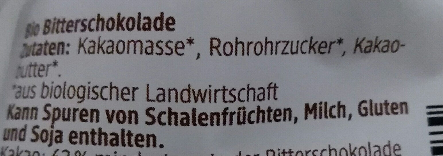 Schokohase Feine Bitter - Ingrédients - de