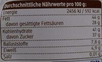 Schokohase Feine Bitter - Informations nutritionnelles