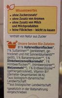 Kinder Beeren Müsli - Inhaltsstoffe