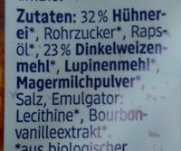 Dinkel Frischei Waffeln - Ingredients