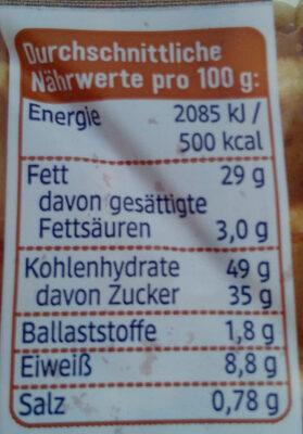 Dinkel Frischei Waffeln - Nutrition facts