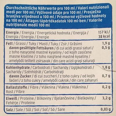 Soja drink natur - Informations nutritionnelles - de