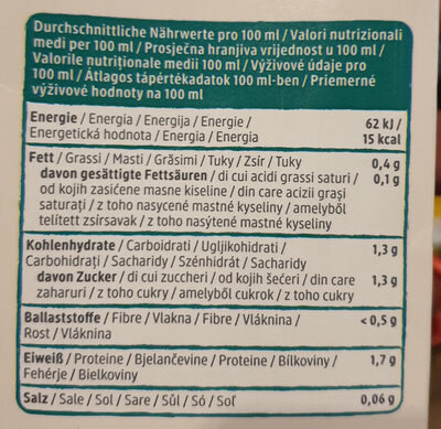 Kokos drink natur - Nutrition facts