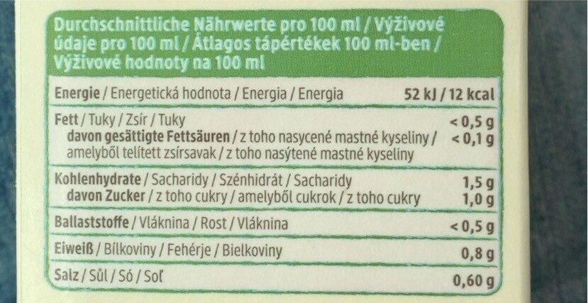 Sauerkraut saft - Informations nutritionnelles - de