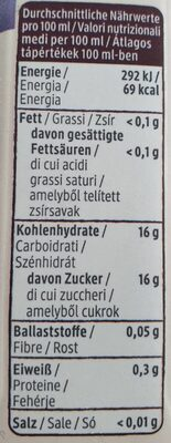 Traubensaft - Informations nutritionnelles - fr