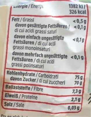 Datteln entsteint - Nutrition facts - de
