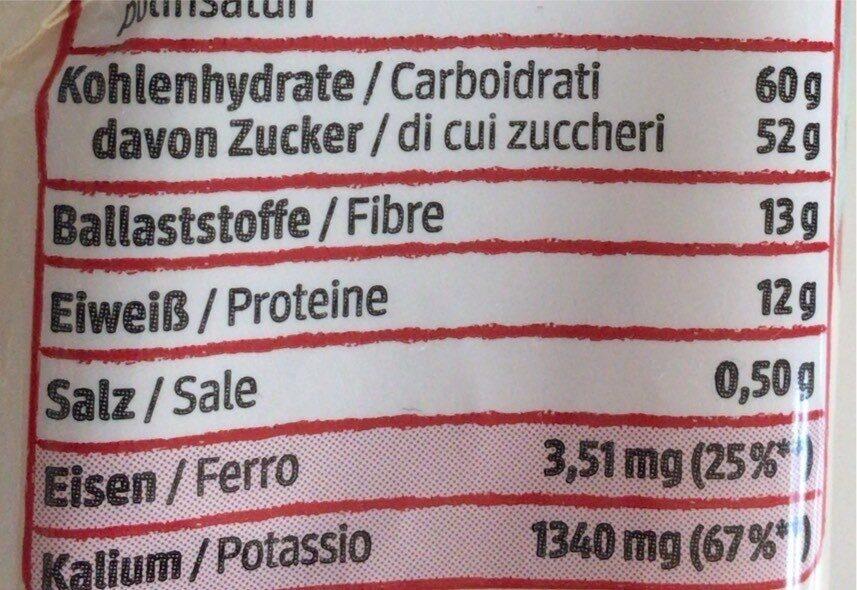 Gojibeeren - Informations nutritionnelles - de