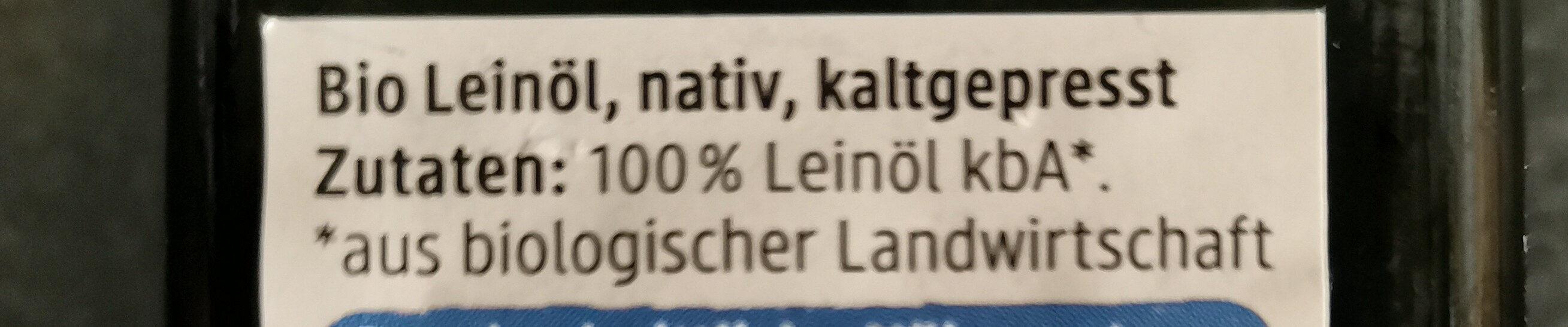 Leinöl - Zutaten - de
