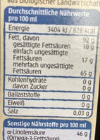 Leinöl - Nährwertangaben - de