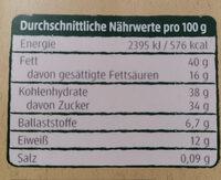 Feine Zimt Mandeln - Informations nutritionnelles - de