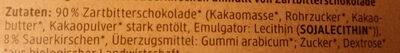 Kirschen in Zartbitterschokolade - Ingredienti - de