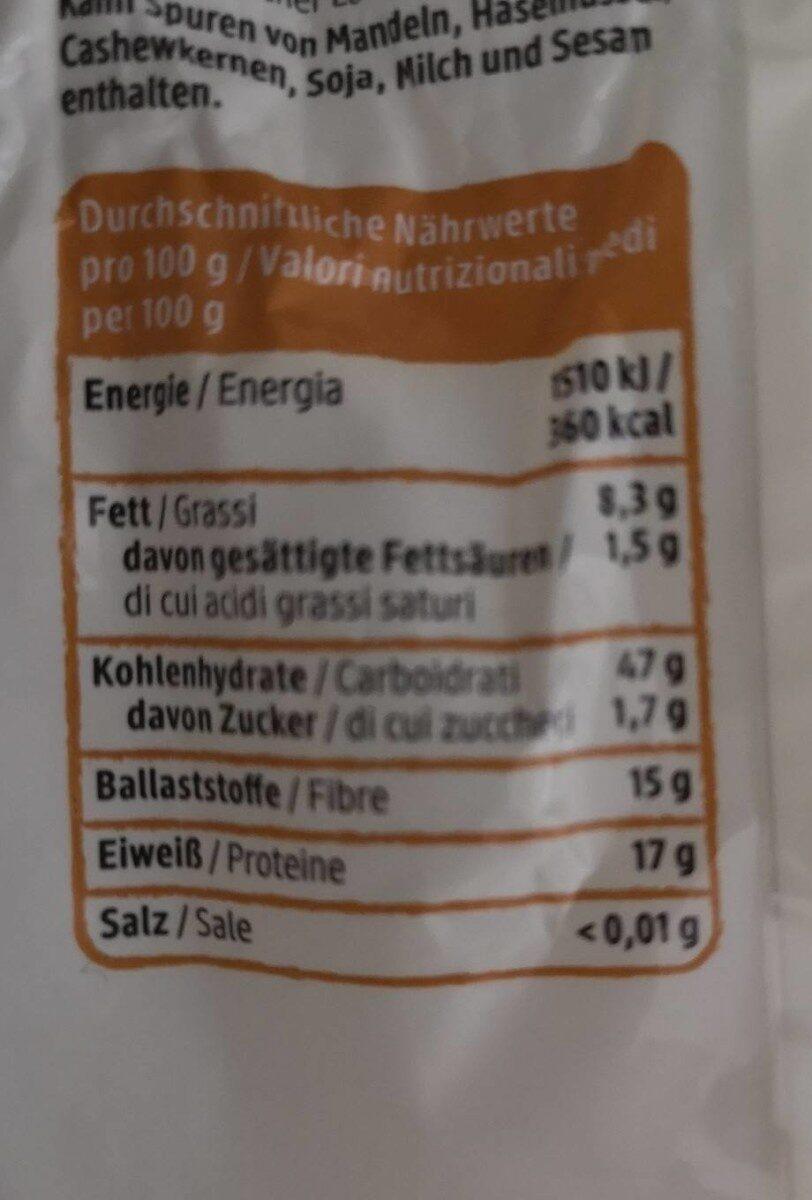 Hafer kleie - Informations nutritionnelles - de
