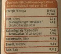 Hafer Creme Cuisine - Nutrition facts - de