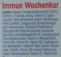 Nahrungsergänzungsmittel Immun Wochenkur - Ingredients - de