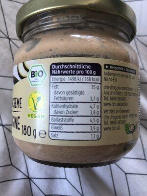Streichcreme Aubergine - Nutrition facts - de