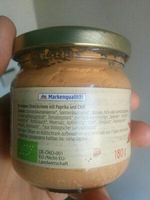Streichcreme Paprika-Chili - Ingrédients