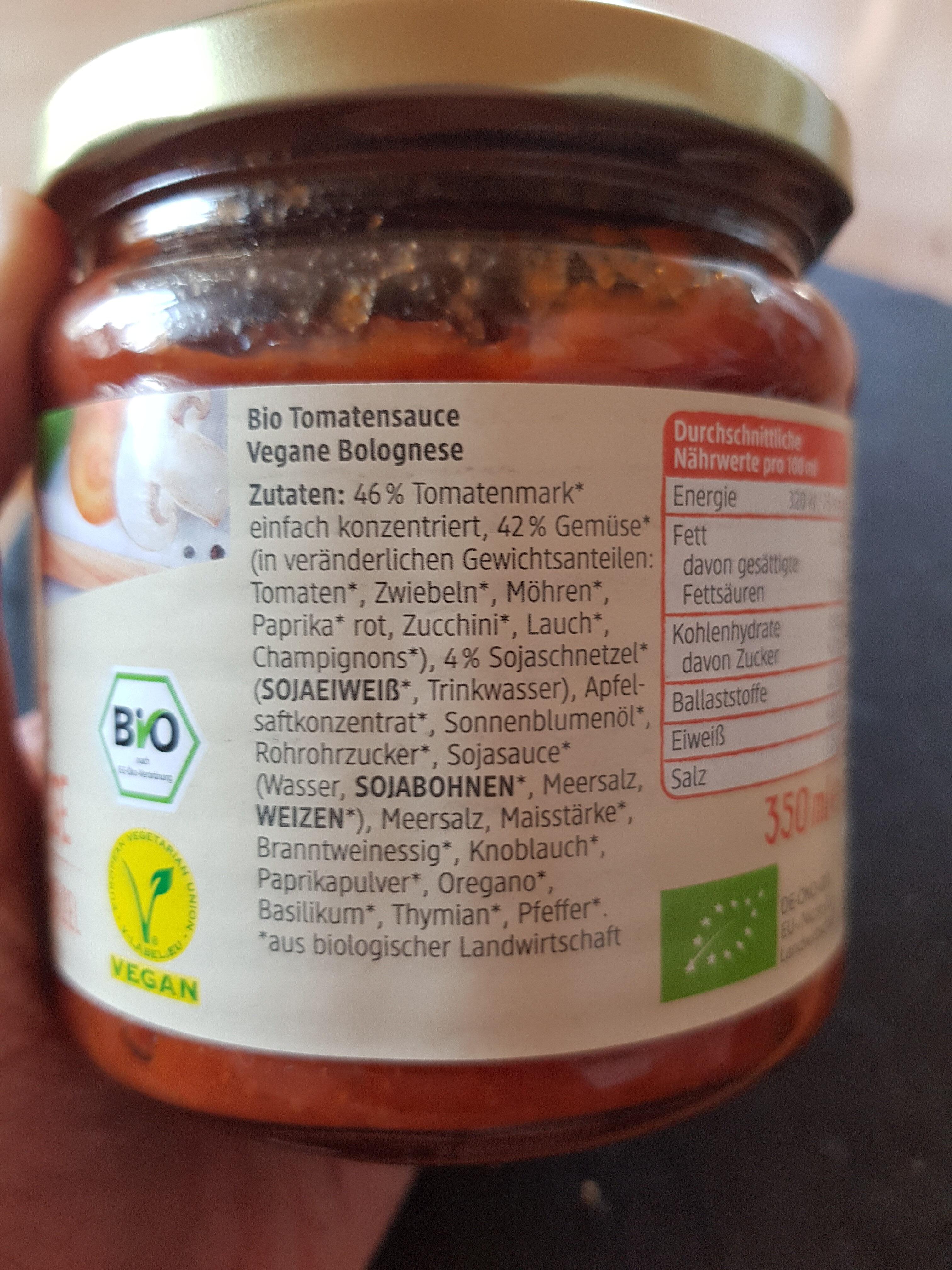 Vegane Bolognese mit Sojaschnetzel - Ingrediënten - de