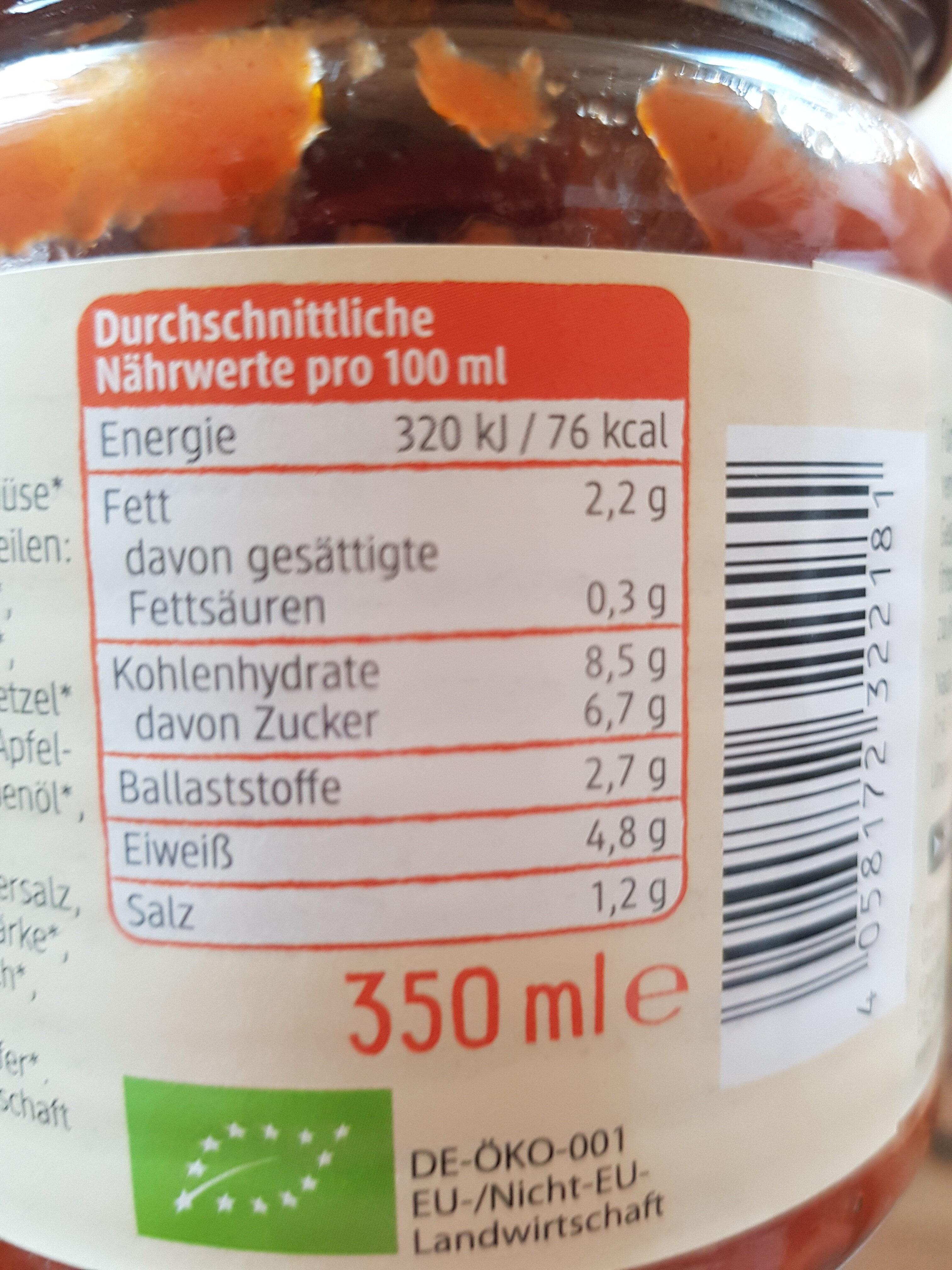 Vegane Bolognese mit Sojaschnetzel - Informations nutritionnelles - de