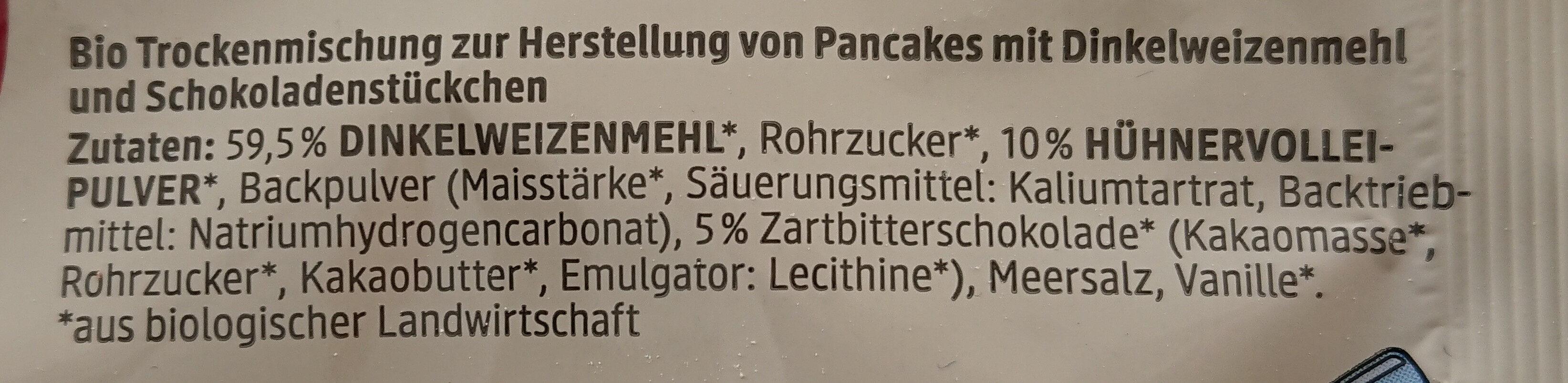 Dinkel Pancakes American Style - Ingredients - de