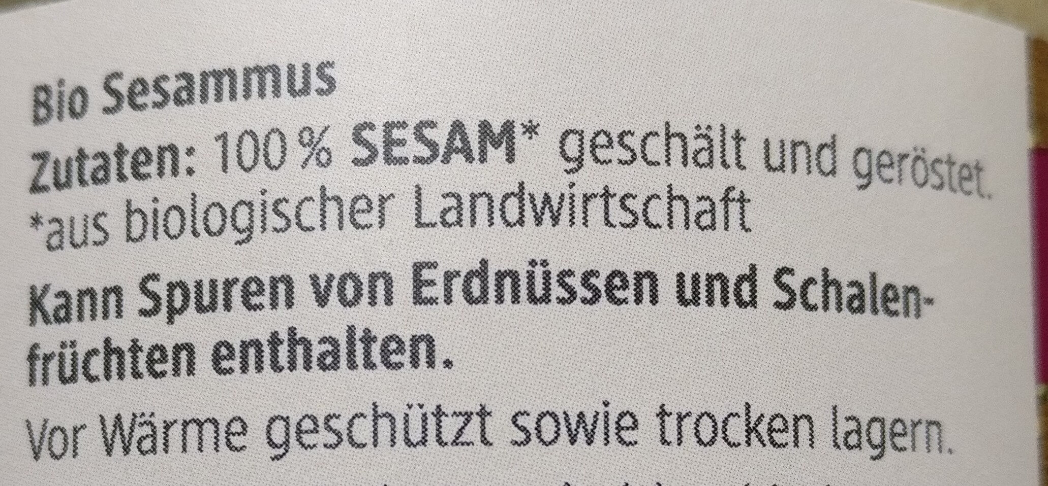 Sesammus Tahin - Ingredients - de