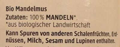 Mandelmus Braun - Ingrédients - de