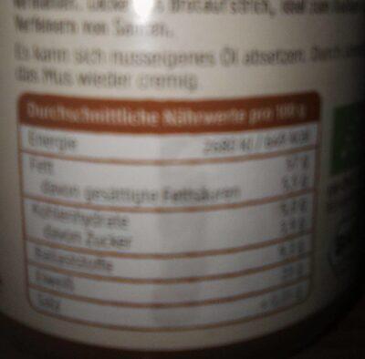 Mandelmus Braun - Informations nutritionnelles - fr