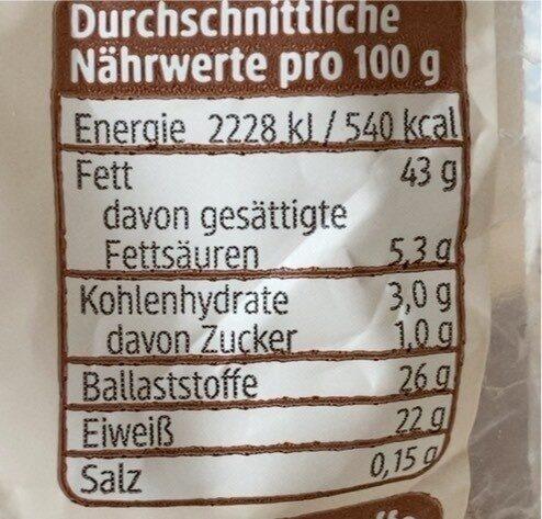 Leinsamen geschrotet - Informations nutritionnelles - de