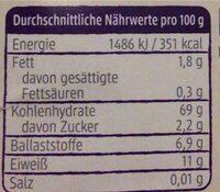 Couscous - Valori nutrizionali - de