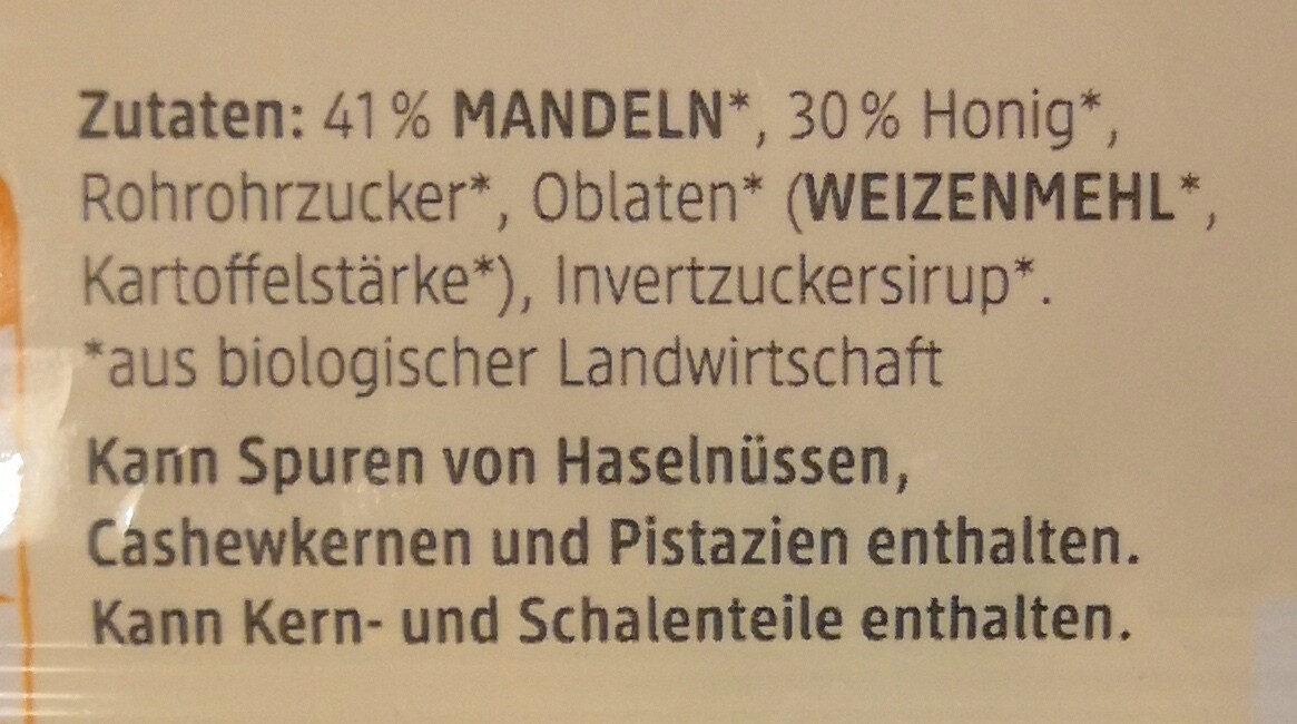 DmBio Mandel Honig Schnitte - Inhaltsstoffe - de