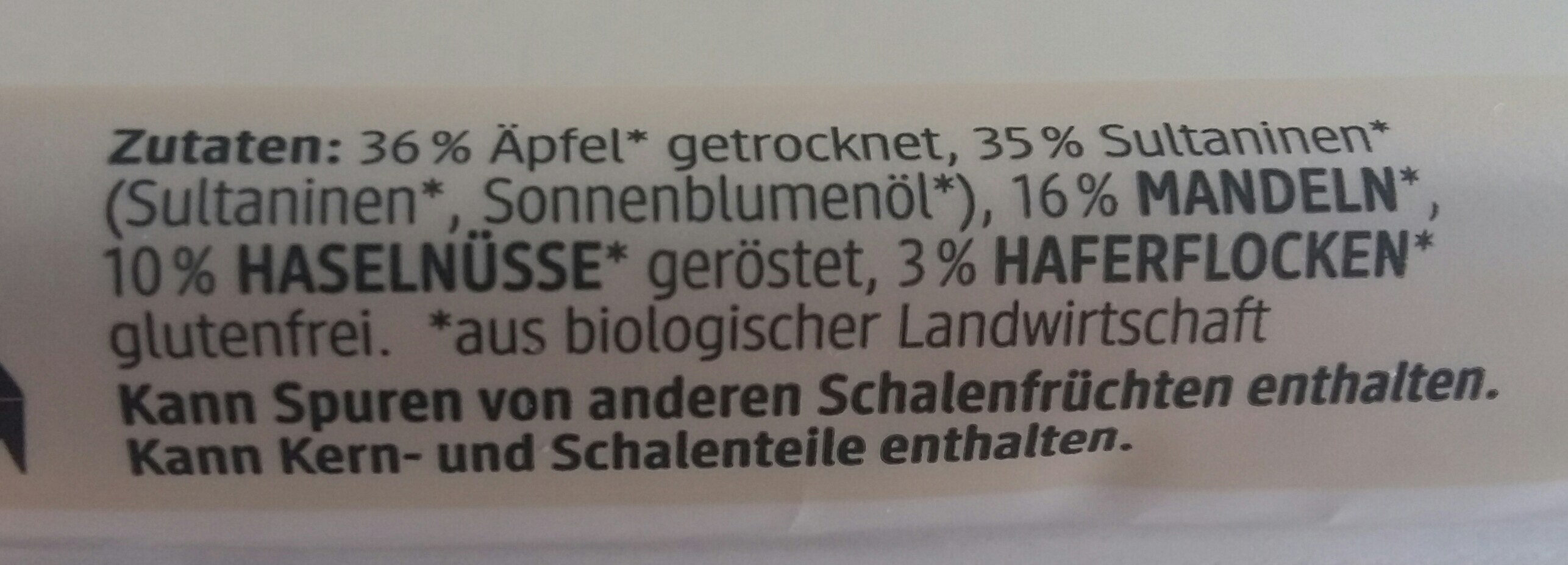 Fruchtriegel - Ingredients - de