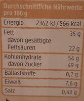 Weisse Schokolade mit Crisp - Informations nutritionnelles - de