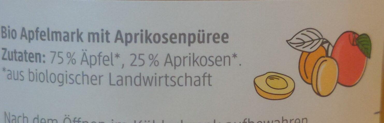 Apfelmark mit Aprikose - Ingredienti - de