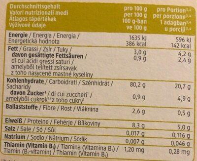 Reisflocken - Informations nutritionnelles - de