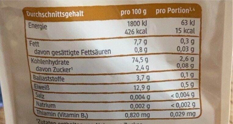 Mini Dinkel Zwieback - Informations nutritionnelles - de