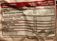 Himbeer Reiswaffeln - Nutrition facts - de
